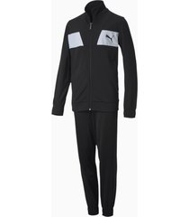 polyester trainingspak, zwart, maat 116 | puma