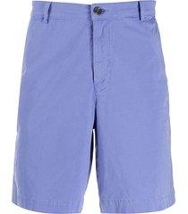 kenzo high-rise chino shorts - purple