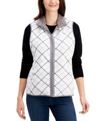 karen scott plaid vest, created for macy's