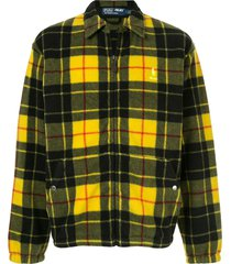 palace x polo ralph lauren polar fleece harrington jacket - yellow