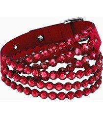 braccialetto swarovski power collection, rosso chiaro
