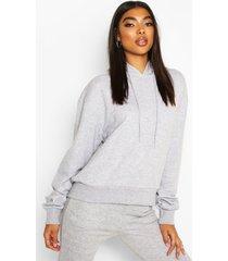 basic soft mix & match oversized hoodie, grey marl