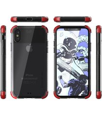 estuche protector ghostek covert 2 iphone x/xs - rojo