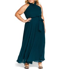 plus size women's city chic honour maxi dress, size x-small - green