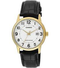 reloj analógico mujer casio ltpv002gl7b2 - negro con blanco