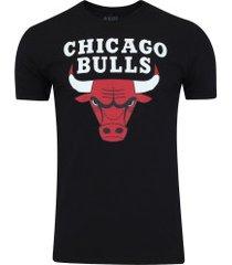camiseta nba chicago bulls big logo - masculina - preto
