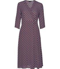 wrap style dress knälång klänning multi/mönstrad marc o'polo