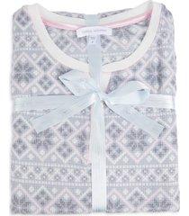 carole hochman women's argyle pajama top - pink print - size m