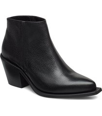 malino boot 3338 shoes boots ankle boots ankle boot - heel svart samsøe samsøe