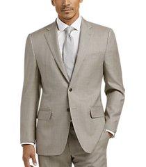 joseph abboud tan sharkskin modern fit suit