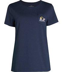 crewneck chest pocket t-shirt