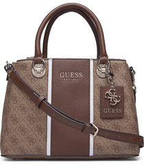 cathleen 3 compartment satchel bags top handle bags brun guess