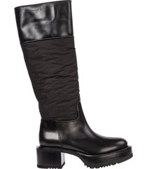 stivali donna con tacco pelle