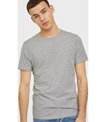 bread & boxers crew neck t-shirt t-shirts & linnen grey melange