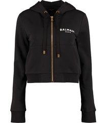 balmain full zip hoodie