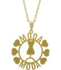 gargantilha horus import moda banhada ouro 18k feminina