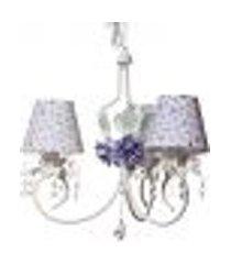 lustre 3l imperial lilás quarto bebê infantil menina
