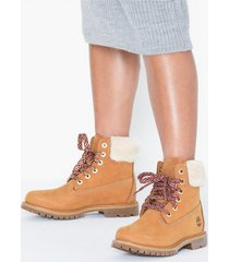 timberland 6in prem shearling collar flat boots
