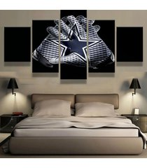 5 piece dallas cowboys gloves canvas hd prints painting wall art home decor