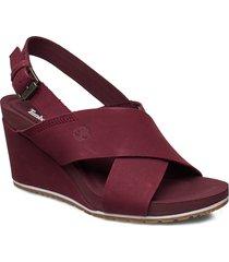 capri sunset x-band sandal schoen wedge rood timberland