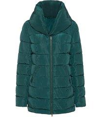 giacca trapuntata con collo alto (petrolio) - bodyflirt