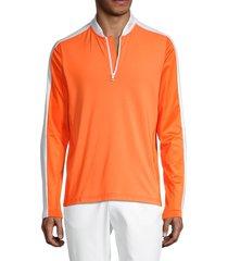 j.lindberg men's logo stretch mid layer sweatshirt - stone grey - size m