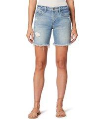 joe's jeans lara distressed denim bermuda shorts