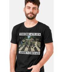 camiseta masculina the beatles abbey road capa