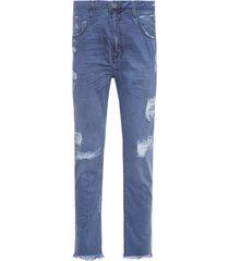 calça masculina extra rock viena 3d - azul