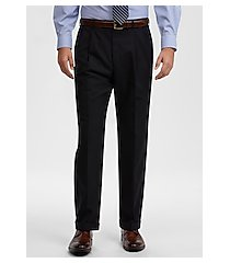 traveler collection traditional fit pleated front men's suit separate pants clearance by jos. a. bank