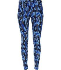leggings deportivo trama militar color azul, talla l