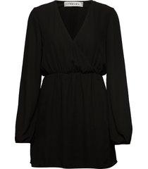 balloon sleeve dress kort klänning svart ivyrevel