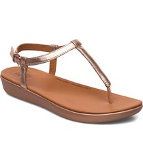 tia toe-thong sandals - leather shoes summer shoes flat sandals guld fitflop