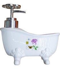 saboneteira banheira de cerã¢mica rosa kasa ideia - multicolorido - dafiti