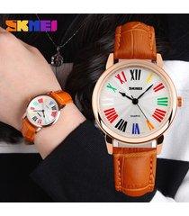 reloj de cuarzo resistente al agua para mujer-naranja