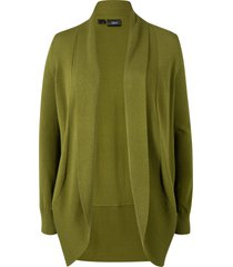 cardigan a manica lunga (verde) - bpc bonprix collection