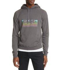 men's saint laurent malibu palm tree hooded sweatshirt