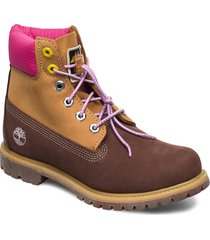 6 prem boot f/l dk brn shoes boots ankle boots ankle boot - flat brun timberland