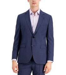 hugo men's modern fit navy suit jacket