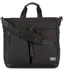 as2ov double buckle tote bag - black