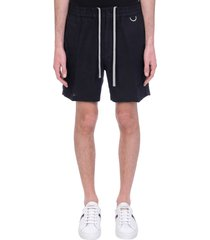 low brand taylor shorts in black linen