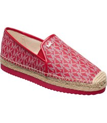 hastings slip on sandaletter expadrilles låga röd michael kors