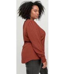blus xhannu l/s detail blouse