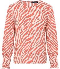 zebra blouse koraal