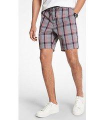 mk shorts in misto cotone a quadri - dark midt ml - michael kors