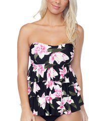 island escape tiered tankini top, created for macys women's swimsuit