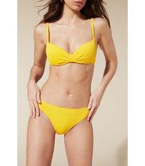 calzedonia elisa padded push-up bikini top woman yellow size 5