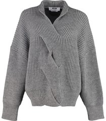 msgm ribbed knit pullover