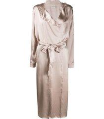 le kasha tie-front duster coat - neutrals