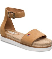 natural rope sandal shoes summer shoes flat sandals brun tommy hilfiger